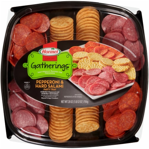 Hormel Pepperoni & Salami Party Tray Perspective: front