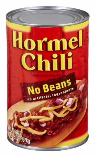 Hormel No Beans Chili Perspective: front