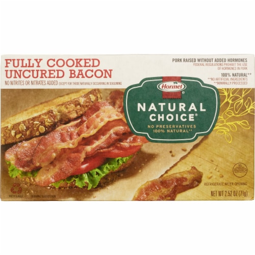 Hormel Natural Choice Fully Cooked Bacon Perspective: front