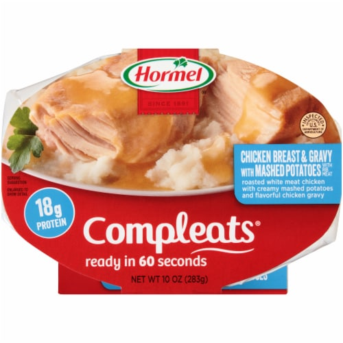 Hormel Compleats Chicken Breast & Mashed Potatoes with Gravy Perspective: front
