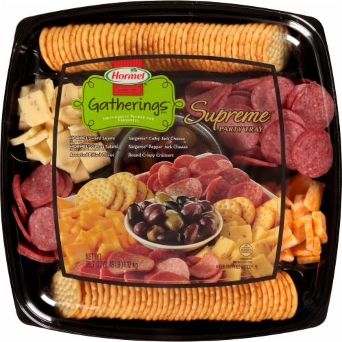 Hormel Gatherings Supreme Party Tray Perspective: front