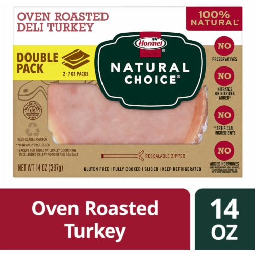 Hormel Natural Choice Oven Roasted Sliced Deli Turkey Perspective: front