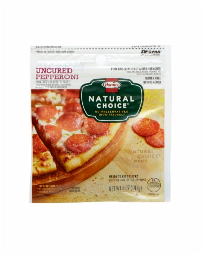 Hormel Natural Choice Uncured Pepperoni Perspective: front