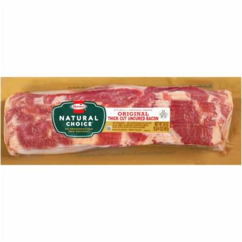 Hormel Natural Choice Thick Cut Uncured Bacon Perspective: front