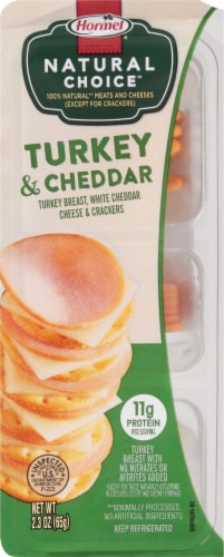 Hormel® Natural Choice™ Turkey & Cheddar with Crackers Perspective: front
