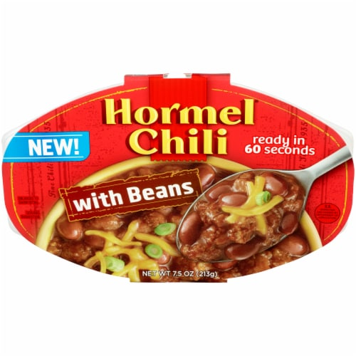 Hormel Chili with Beans Microwavable Tray Perspective: front