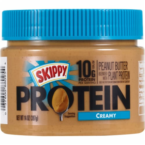 Skippy Boosted Added Protein Peanut Butter Perspective: front