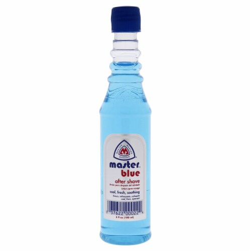 Master Well Comb Blue After Shave Lotion 3 oz Perspective: front