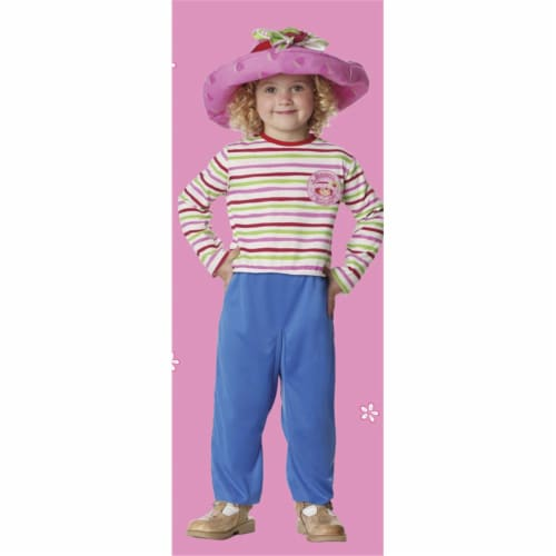 Costumes For All Occasions Pm4162Lg Strawberry Shrtck 4T 6T Perspective: front