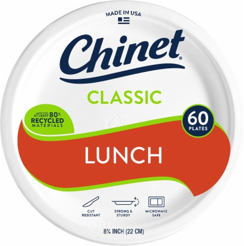 Chinet All Occasion Classic White Paper Plates Perspective: front
