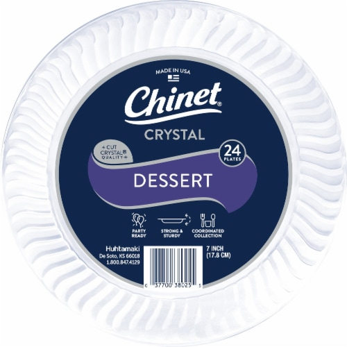 Chinet Cut Crystal 7-Inch Plastic Plates Perspective: front