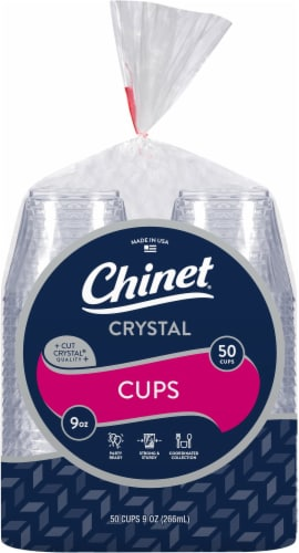 Chinet Cut Crystal Plastic Cups Perspective: front