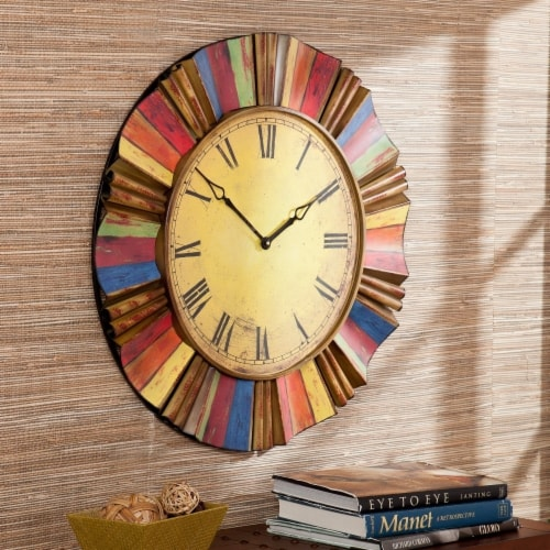 Multicolor Wall Clock Perspective: front