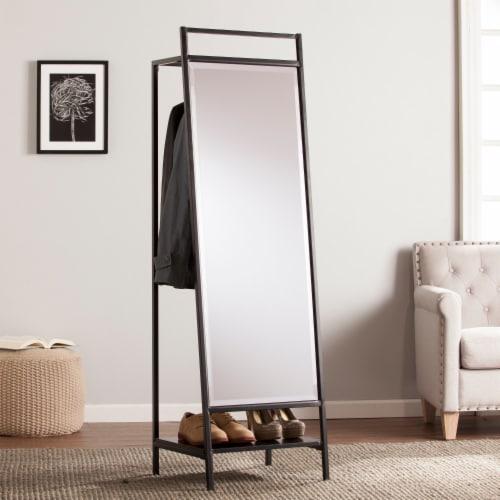 Drake Mirror Hidden Coat Rack Perspective: front