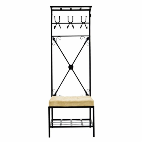 Entryway Storage Rack / Bench Seat Perspective: front