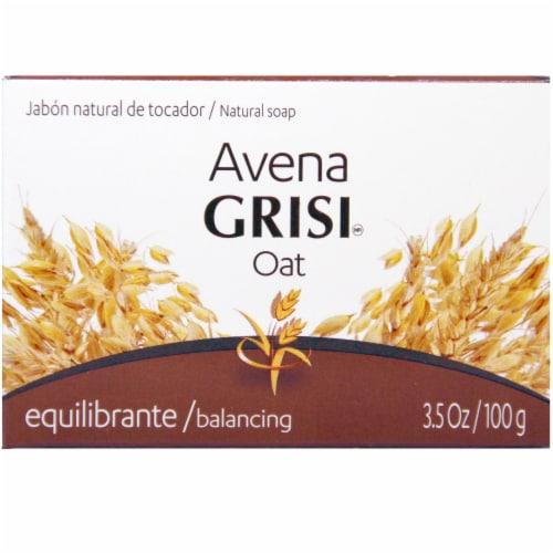 Grisi Natural Oat Balancing Bar Soap Perspective: front