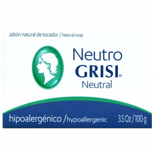 Grisi Neutral Hypoallergenic Bar Soap Perspective: front