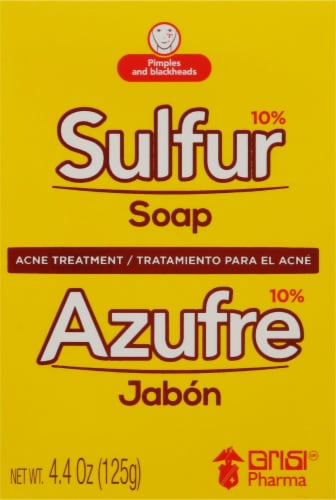 Grisi Sulfur Lanolin Acne Treatment Soap Perspective: front