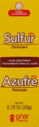 Grisi Sulfur Acne Treatment Ointment Perspective: front