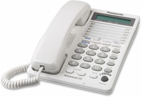 Panasonic KX-TS208W Corded Phone - White Perspective: front