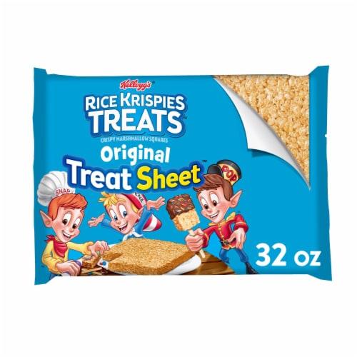 Rice Krispies Treats Original Treat Sheet Crispy Marshmallow Squares Perspective: front