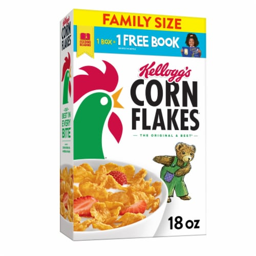 Kellogg's Corn Flakes Breakfast Cereal Original Perspective: front