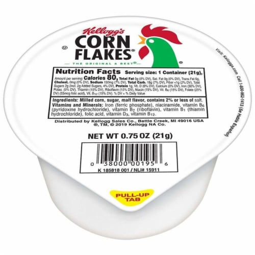 Cereal Corn Flakes Simple Serve 96 Case 0.75 Ounce Perspective: front