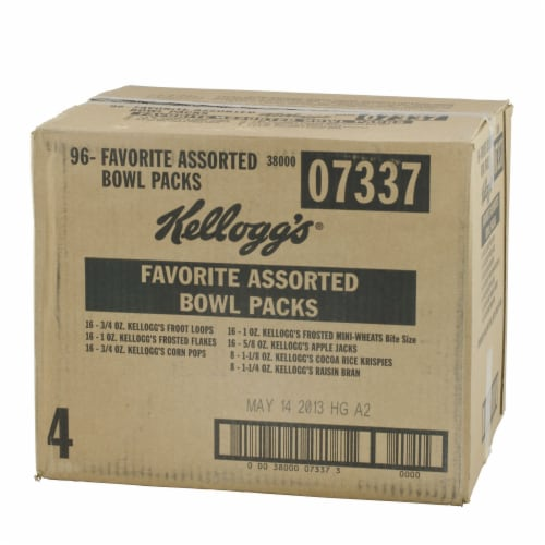 Cereal Favorite Assortment 96 Count 1.13 Ounce Perspective: front
