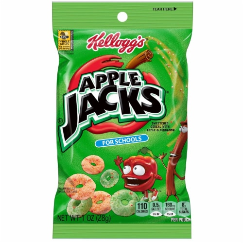 Kelloggs Apple Jacks For Schools Cereal, 1 Ounce -- 96 per case. Perspective: front
