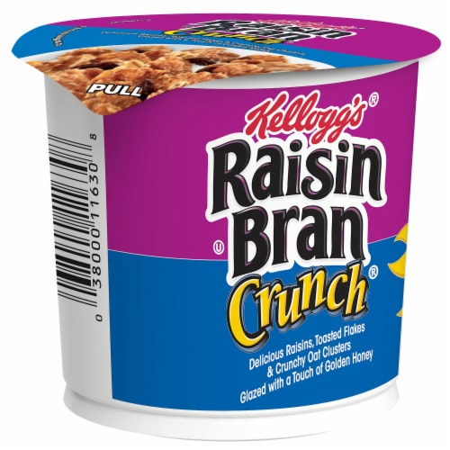 Kellogg's Raisin Bran Crunch Breakfast Cereal in a Cup Original Perspective: front