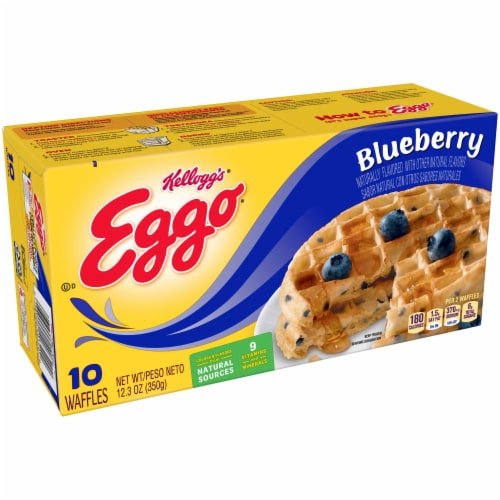 Kelloggs Eggo Blueberry Waffle, 12.3 Ounce -- 8 per case. Perspective: front