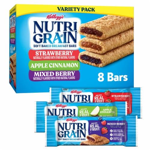 Kellogg's Nutri-Grain Soft Baked Breakfast Bars Variety Pack Perspective: front