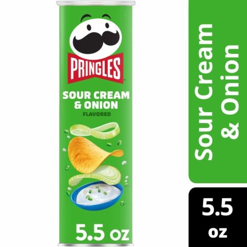 Pringles Potato Crisps Chips Sour Cream & Onion Flavored Perspective: front