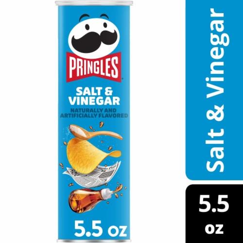 Pringles Potato Crisps Chips Salt & Vinegar Flavored Perspective: front