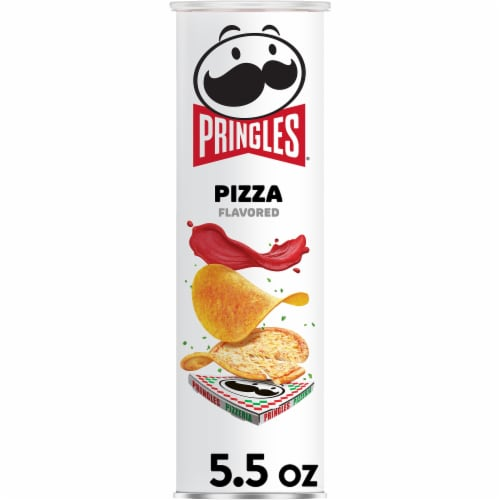 Pringles Potato Crisps Chips Pizza Flavored Perspective: front