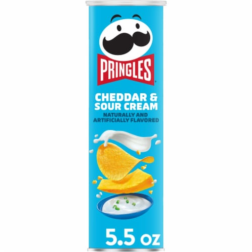 Pringles Potato Crisps Chips Cheddar & Sour Cream Perspective: front