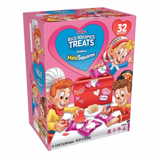 Rice Krispies Treats Valentine's Original Mini Crispy Marshmallow Squares Perspective: front