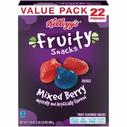 Kellogg's Mixed Berry Flavored Fruity Snacks Perspective: front