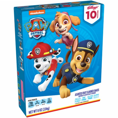 Kellogg's Paw Patrol Fruit Flavored Snacks Perspective: front