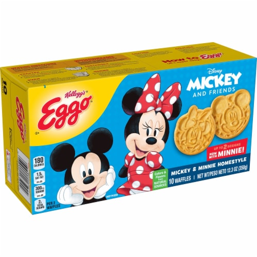 Eggo Disney Mickey Mouse Frozen Breakfast Waffles Homestyle Perspective: front