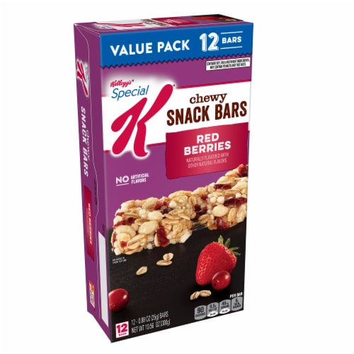 Kellogg's Special K Red Berries Chewy Snack Bars 12 Count Perspective: front