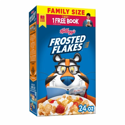 Kellogg's Frosted Flakes Breakfast Cereal Original Family Size Perspective: front