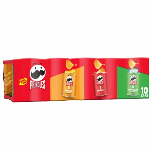 Pringles Grab & Go Potato Crisps Chips Variety Pack Perspective: front