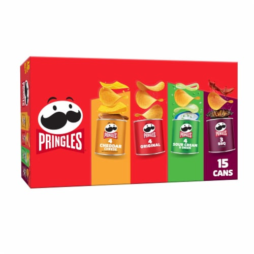 Pringles Potato Crisps Chips Variety Pack 15 Count Perspective: front