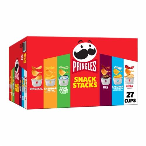 Pringles Snack Stacks Potato Crisps Chips Variety Pack Perspective: front