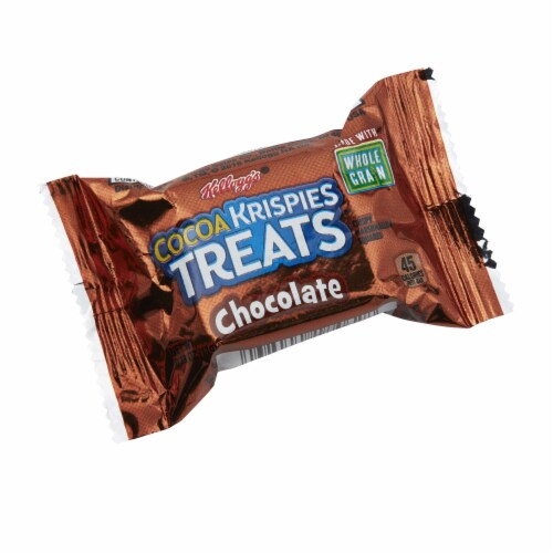 Kelloggs Rice Cocoa Krispies Treats with Chocolate Mini Squares, 0.39 Ounce -- 600 per case. Perspective: front