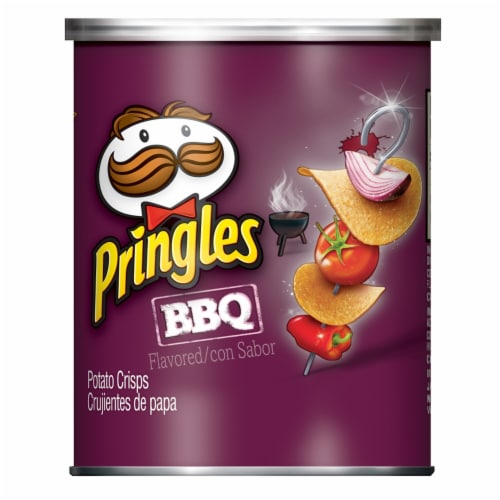 Pringles Barbecue Crisps, 16.9 Ounce -- 36 per case. Perspective: front
