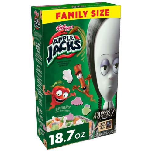 Kellog's Apple Jacks Marshmallow Cereal Perspective: front