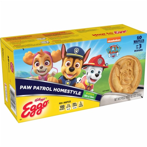 Eggo PAW Patrol Frozen Breakfast Waffles Homestyle Perspective: front