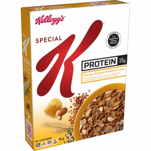 Kellogg's Special K Protein Breakfast Cereal Honey Almond Ancient Grains Perspective: front